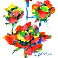 4本のバラ〈 4 roses〉