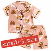 夏キャラクターパジャマ半袖半ズボンシルク生地