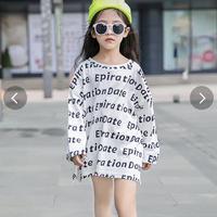 完売間近。大人気売り切れ御免🙏子供服 キッズ 女の子 英字柄 おしゃれ カジュアル 小学生 トップス 韓国子供服 通学着