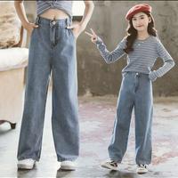 ストレートレッグジーンズ130から150までサイズをご用意。何にでも合わしやすいデニム。
