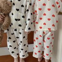 韓国子供服 パジャマ 親子服 男女兼用 可愛い 秋服 セット ルームウェア