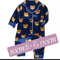 子供パジャマ上下セット。生地はシルクバランスよく各種色 サイズ揃えました