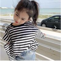 韓国風子供服 韓国ファッション 可愛い ボーダー おしゃれ 子供服