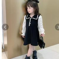 韓国風子供服 韓国ファッション 可愛い ワンピース レース 子供服