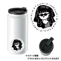 【予約生産限定】みきなつみ オリジナルイラスト入り 缶型サーモステンレスタンブラー