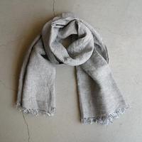 fog linen work ロセリエ スカーフ ホワイト格子