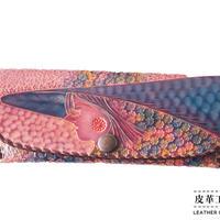 メガネケース 横顔 紫【12MC-GF-PP】