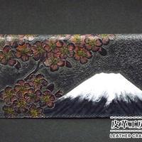 札入れ 富士に桜 紺【06SW-MF-NB】