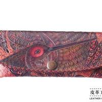 メガネケース 鳥 紫【12MC-BD-PP】