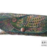 メガネケース 鳥 緑【12MC-BD-GN】