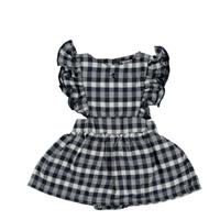 【tocoto vintage】vichy squares sleeveless body dress- navy (12m,18m)