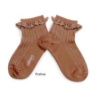 【Collegien】9553 Marie-Antoinette  Lace Trim Pointelle Socks