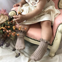 【collegien】lace  trim ankle socks