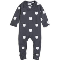 【TOBIAS AND THE BEAR 】Charcoal Bear long romper