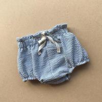 【bel&bow】Seersucker Bloomers - Duck Egg Blue Stripe