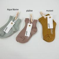 【collegien】rib ankle socks