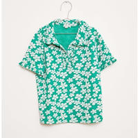 【fish&kids】おとな GREEN FROWER POLO