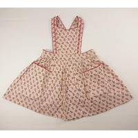 【CARAMEL】Peach small floral-  pinafore