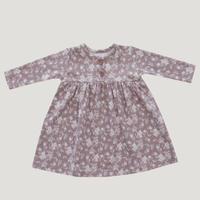 残り1【JamieKay】Organic Cotton Dress - Fawn Floral