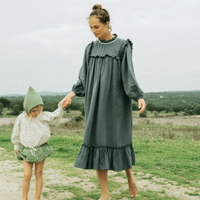【Liilu woman】LIANA DRESS WOMEN olive