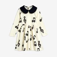 【mini rodini】Notes aop ls dress Offwhite