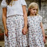 【 little cotton clothes 】Ladies skirt- teatime floral