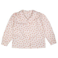 【little cotton clothes】Edith collared blouse - petal floral in rust