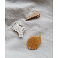 【Konges sloejd】3 PACK HAIR CLIPS - SHELL/RABBIT/LEMON