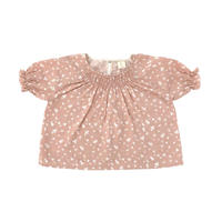 【Liilu】Smocked blouse_Flower petals