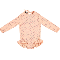 【tocoto vintage】Strawberry print long-sleeved swimsuit UPF 50+