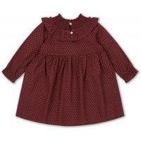 【Konges sloejd】OLLIE DRESS - TINY CLOVER, MAROON