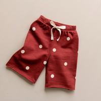 【organic zoo】Burgandy dots  Wide Leg Trousers Oat