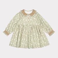 【happyology】Palmeira Dress, Antique Green Floral