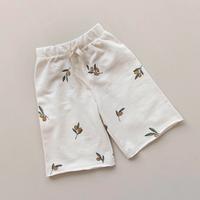 【organic zoo】Olive Garden Wide Leg Trousers Oat