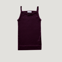 【Jamiekay】  Cotton Modal Singlet - mulberry