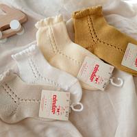 【condor】pearl side openwork short socks  size 0 ・ size2