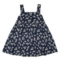 残り1【little cotton clothes】Tabitha Pinafore - brushed cotton in Winter rose floral