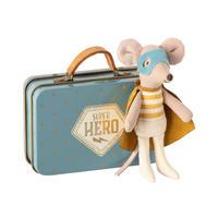 【Maileg 】スーパーヒーローマウス/スーツケース