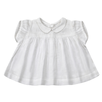 【little cotton clothes】***PRE ORDER*** JUNO BLOUSE – WHITE TEXTURED COTTON