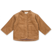 【Konges sloejd】QUILTED JACKET - FADED BROWN