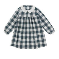 【lottle cotton clothes】penny dress textured gingham teal