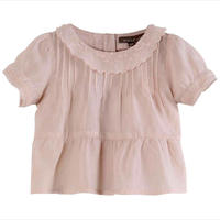 【Emile et ida】Nude embroidered vintage baby blouse (6m,12m,18m,2a)