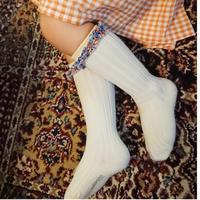 【collegien】liberty ruffle high socks