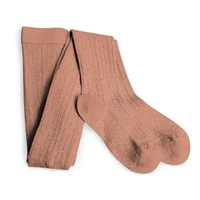 【Collegien】Glittery tights - rose wood