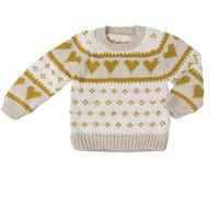 【Wild wawa】Love Sweater - Oatmeal/Mustard