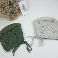 【penooras】ADALIA bonnet - gray,dark green