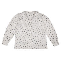 【little cotton clothes】Edith collared blouse - petal floral in midnight blue