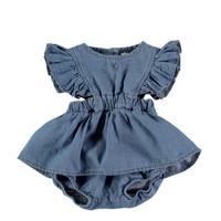 【tocoto vintage】light denim baby body dress