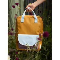 【sticky lemon】large backpack wanderer | caramel fudge + sky blue + pirate purple