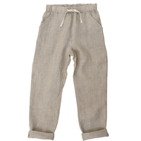 last 1【little cotton clothes】Tenby trousers linen natural